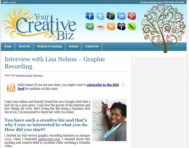 creative business interview, graphic recording, sketchnotes, washington d.c.
