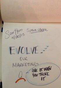 Sam Horn Intrigue, Tory Johnson, sketchnotes, Washington DC